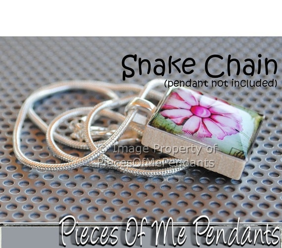 "Necklace - Snake Chain - 17 inch - 17"" ... by Pieces Of Me Pendants"