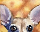 CHIHUAUA Dog Signed Art Print by Artist DJ Rogers