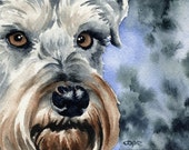 MINIATURE SCHNAUZER Dog Art Print Signed by Artist DJ Rogers