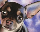 CHIHUAHUA Art Print Signed by Artist DJ Rogers