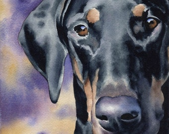 DOBERMAN PINSCHER Art Print Signed by Artist DJ Rogers