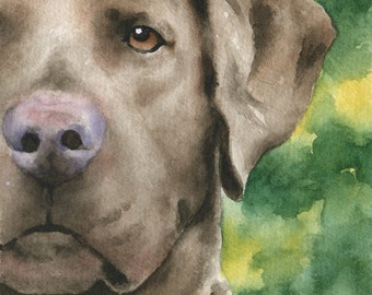 CHESAPEAKE BAY RETRIEVER Art Print Watercolor Signed by Artist D J Rogers