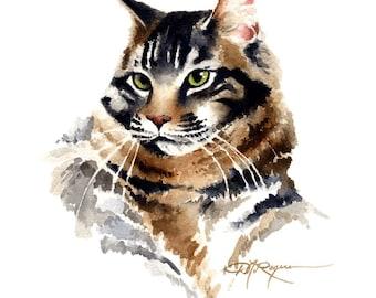 CAT PORTRAIT 2 Maine Coon Art Print Signed by Artist DJ Rogers