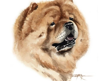 CHOW CHOW Dog Art Print Signed by Artist DJ Rogers