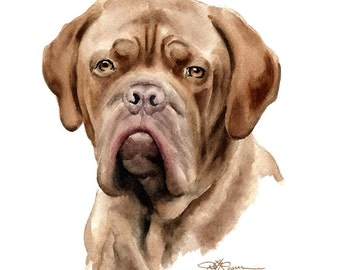 FRENCH MASTIFF Dog Art Print Signed by Artist DJ Rogers