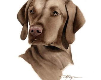 HUNGARIAN VIZSLA Dog Art Print Signed by Artist DJ Rogers
