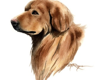 HOVAWART Dog Art Print Signed by Artist DJ Rogers