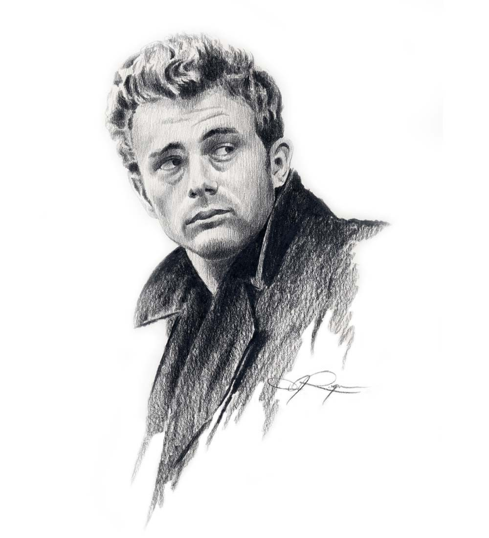 james dean black and white painting - photo #38