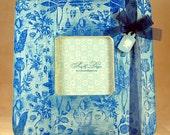RESERVED - Blue floral frame