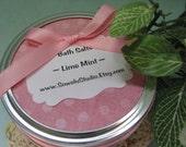 Lime Mint Bath Salts - Mineral Bath Salts Made with Mediterranean Salt and Epsom Salt for Added Moisturizing and Softening