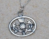 Tavia's Scottish Thistle-Sterling Silver Thistle Necklace