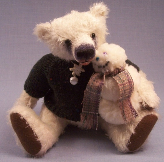 Artist Bear Frosty and his friend George the snowman