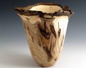 Bark Edge Butternut Wood Turned Bowl -2