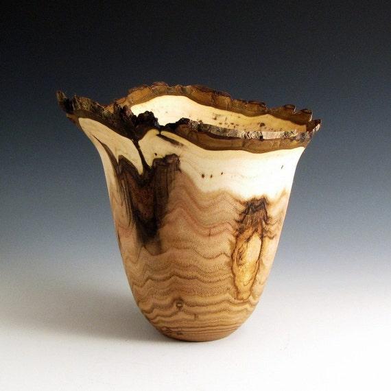 Bark Edge Butternut Wood Turned Bowl - 3