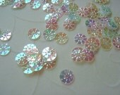 7g of 5 mm Sunny Round Sequins in Clear Iridescent Color