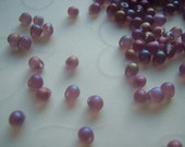 10 grams of Japanese Fringe Beads - Matte Rainbow Lavender Color