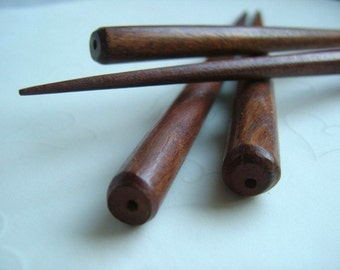 10 pieces ( 5 pairs ) of Stained Wood Hair stick - 6 inches long