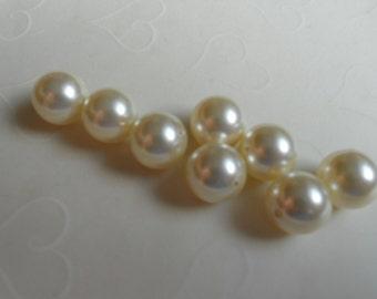 10 pieces of Swarovski Crystal Pearl in CREAM Color -- 12mm