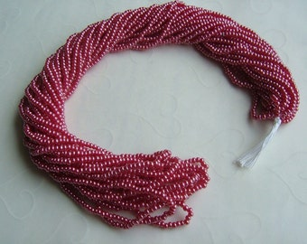 One hank of Czech Pearl Luster Garnet seed beads - 0113 size 11