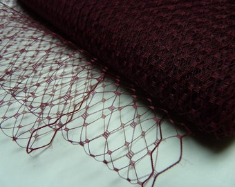 1 Yard 9 inches wide Russian/French Veiling --  WINE (BURGUNDY)
