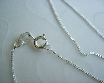 """On Sale -- 4 Pieces of 925 Sterling Silver FINE CURB Necklaces - 18"""" OR 16"""" Finished Chains"""