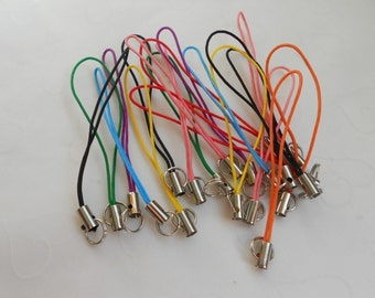 New Low Price -- 20 pieces of Cell Phone Strap in Multi-Color OR Black Color (You Pick The Color)