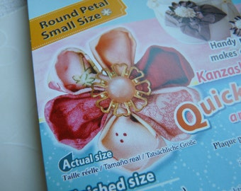 1 pack of CLOVER Kanzashi Flower Maker - Round Petal Small (2 Inches)