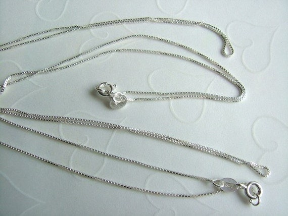 Reserve for moondogtreasures only -- 5 pieces of 925 Sterling Silver Venetian Box 1.0 mm Necklaces - 18 inches