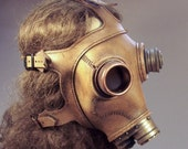 Steampunk gas mask in natural brown