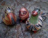Vintage 60s Large Mexican Pottery Birds Lot 3