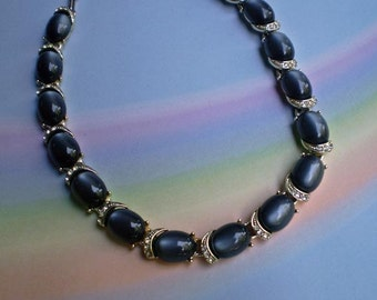 Vintage 50s Coro MoonGlow Lucite Choker Necklace