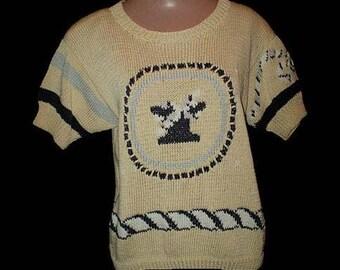 Vintage 80s Cotton Sweater Berek Preppy S