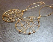 Gold Weave in and out Dangle Earrings