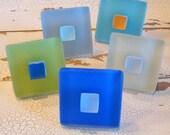 Cabinet Knobs Beach Decor Glass Geometric Pulls