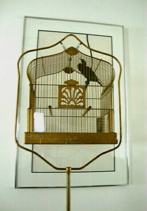Vintage Crown bird cage and stand