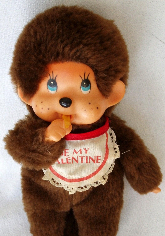 Vintage 1977 Monchichi Thumkey monkey plush doll Russ Berrie