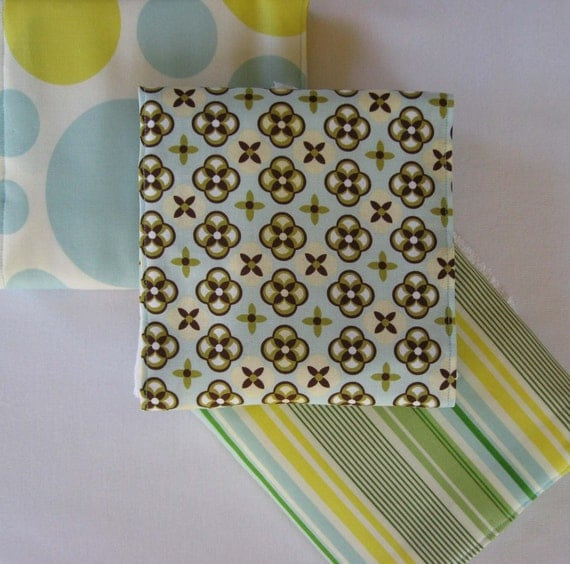Citrus Fresh Baby Burp Cloth Gift Set