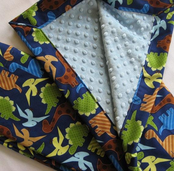 Prehistoric Pals Dinosaur Minky Baby to Toddler Blanket