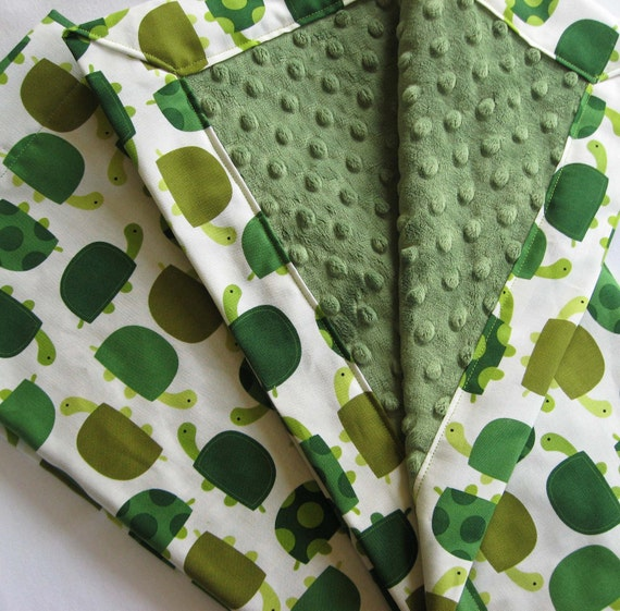 Urban Turtle Minky Baby to Toddler Blanket