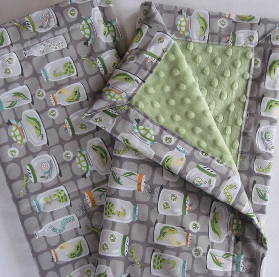 Bug Collection Minky Baby to Toddler Blanket