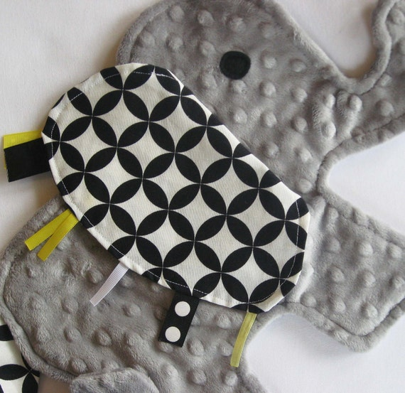 Grayson Yellow and Gray Elephant Lovey Blanket