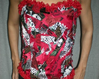 Collage Corset Skulls and Silk 10 DOLLARS OFF was 45