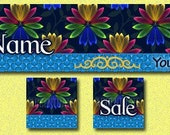 GLOWING ------ Premade Etsy Shop Banner Avatar Set - One Of A Kind (OOAK) & Fabulous - by Accentuate