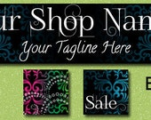 EVERYTHING IS EXTRAORDINARY ------ Premade Etsy Shop Banner Avatar Set - One Of A Kind (ooak) and Fabulous - by Accentuate