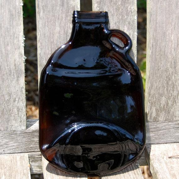 Men's Gift Recycled Brown Beer Bottle Jug Serving Tray, Spoon Rest, Groomsmen Gift