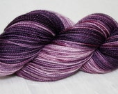 Frosted Grapes--hand dyed sock weight yarn, merino, nylon and stellina, (438yds/100gr)