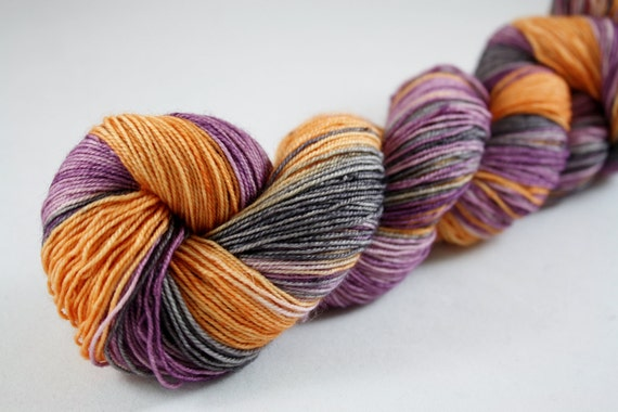 Wuthering Heights--hand dyed fingering weight yarn, BFL superwash (465 yds/100gm)