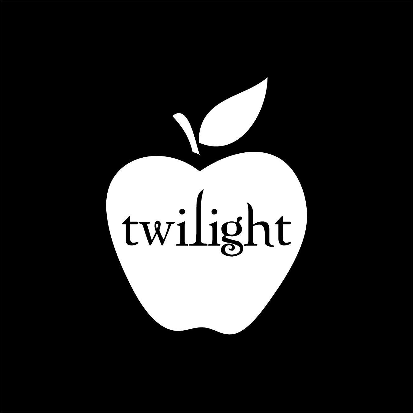 Twilight Apple Vinyl Wall Decal Or Bumper Sticker