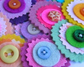 10 fabric mix flowers
