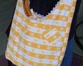 Handbag made from Vintage Tablecloth